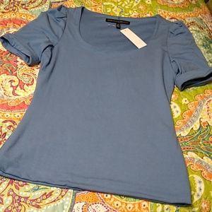 White House Black Market Blue Top Lined Shirt XS